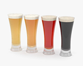 Beer Pilsner Glass 3D model