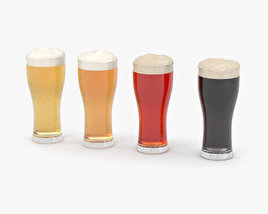 Beer Weizen Glass 3D model