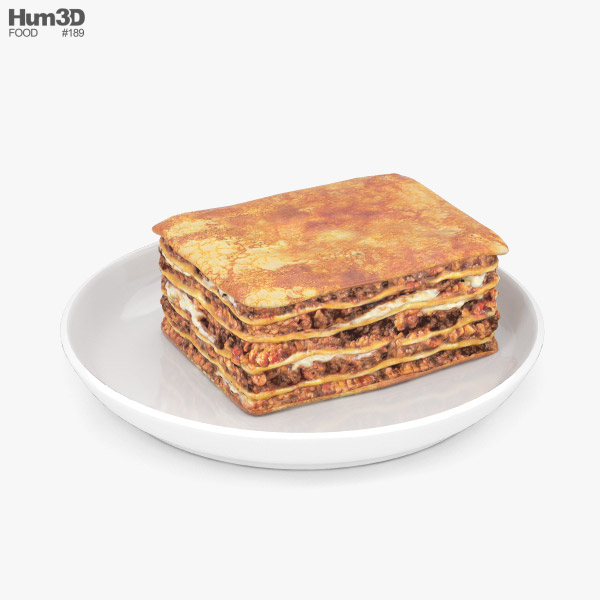 Lasagne 3D model