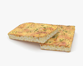3D model of Focaccia