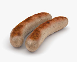 3D model of Bratwurst