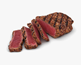 3D model of Medium Rare Steak