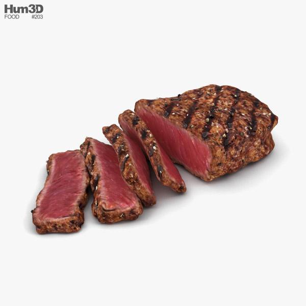 Carne término medio Modelo 3D
