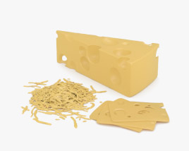 3D model of Swiss Cheese