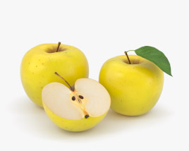 3D model of Yellow Apple