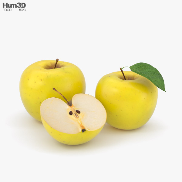3D model of Yellow Apple