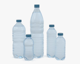 3D model of Plastic Bottles