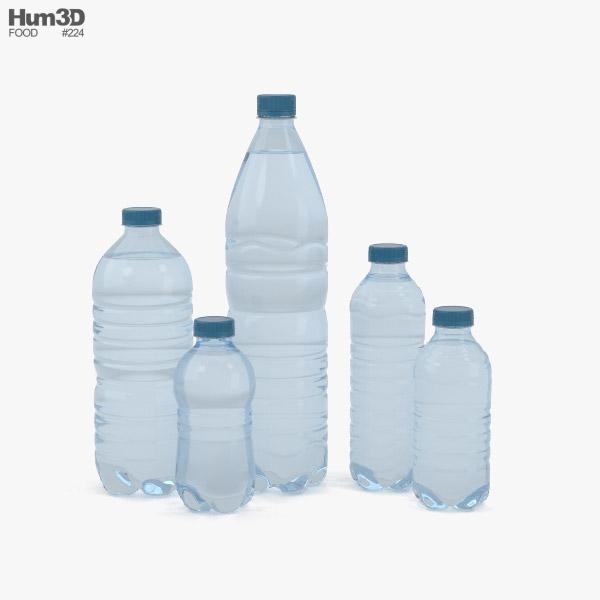 Plastic Bottles 3D model