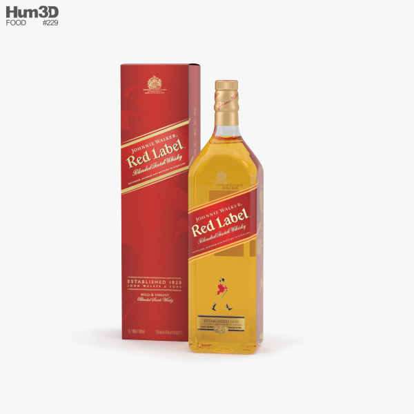 Johnnie Walker Red Label 3D model