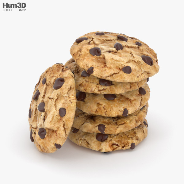 3D model of Chocolate Chip Cookie