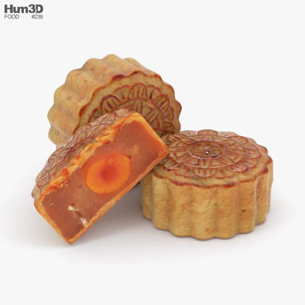 Mooncake 3D model