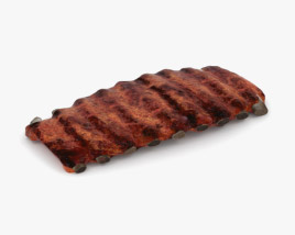 3D model of Barbecue Ribs