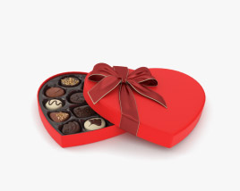 Chocolate Box Heart 3D model