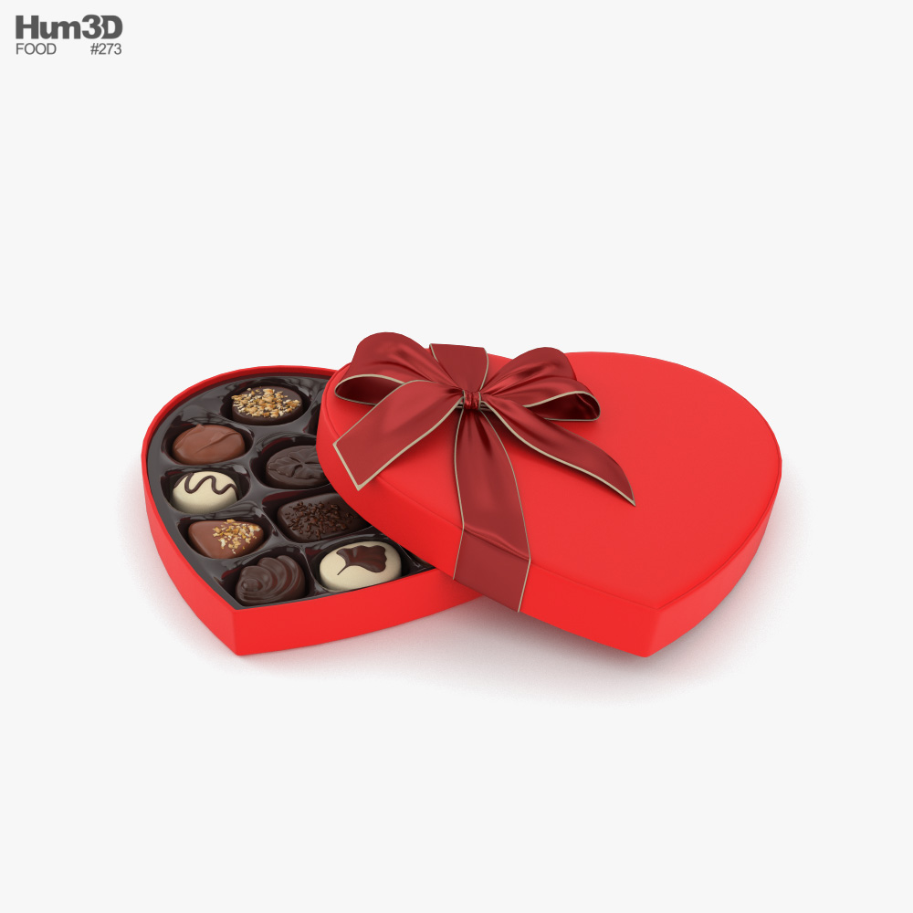 Chocolate Box Heart 3D model