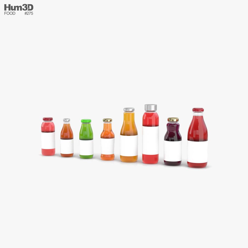 Juice Bottle 3d model