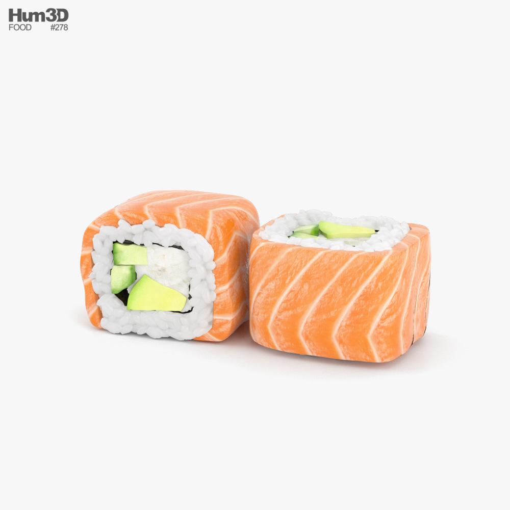 Sushi Philadelphia Roll 3D model