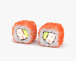 Sushi California Roll 3D model