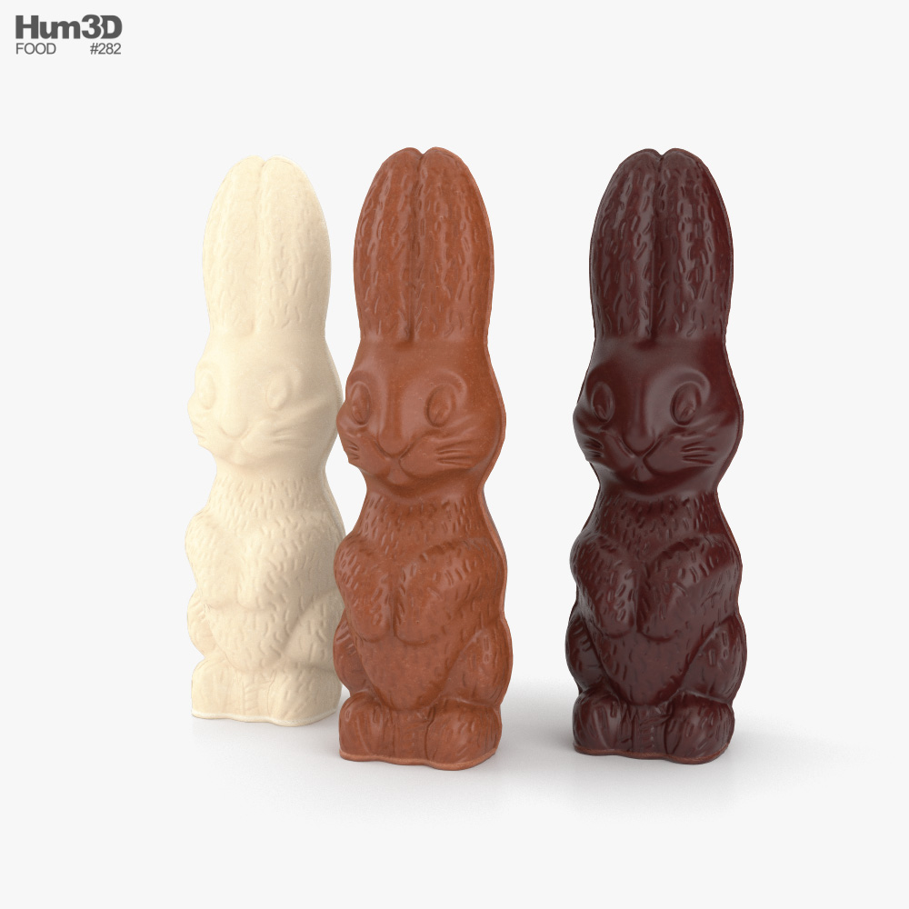 Chocolate Bunnies 3D model