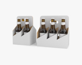4 Pack and 6 Pack 330ml Beer Carriers 3D model