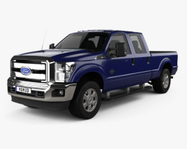 3D model of Ford Super Duty Crew Cab 2011