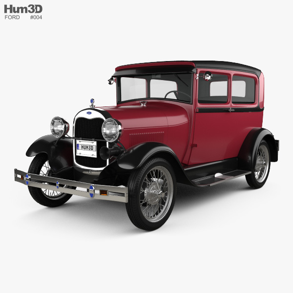 Ford Model A Tudor 1929 3D model