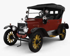 3D model of Ford Model T 4door Tourer 1924