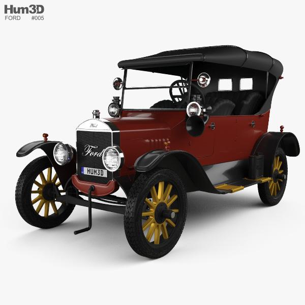 Ford Model T 4door Tourer 1924 3D model