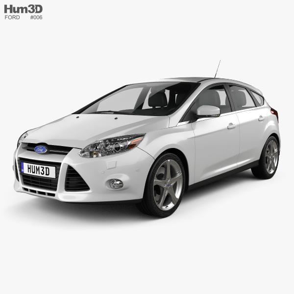 Ford Focus hatchback 2011 3D model