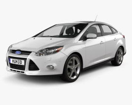 3D model of Ford Focus Sedan 2011