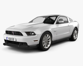 3D model of Ford Mustang Boss 302 2012