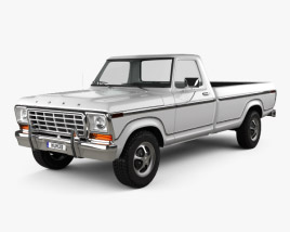 3D model of Ford F150 1978