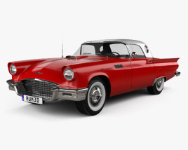 3D model of Ford Thunderbird 1957