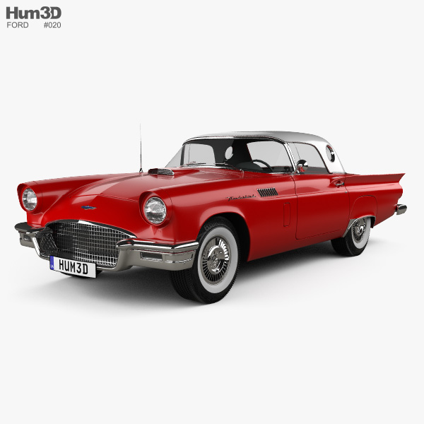 Ford Thunderbird 1957 3D model