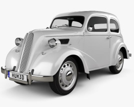 3D model of Ford Anglia E494A 2-door Saloon 1949