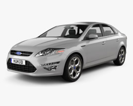 3D model of Ford Mondeo sedan Mk4 2011