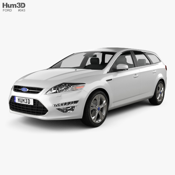 Ford Mondeo wagon 2011 3D-Modell