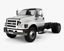 3D model of Ford F-650 / F-750 Regular Cab Chassis 2012