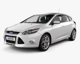 3D model of Ford Focus Hatchback Titanium 2012