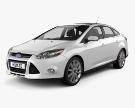 3D model of Ford Focus Sedan Titanium 2012
