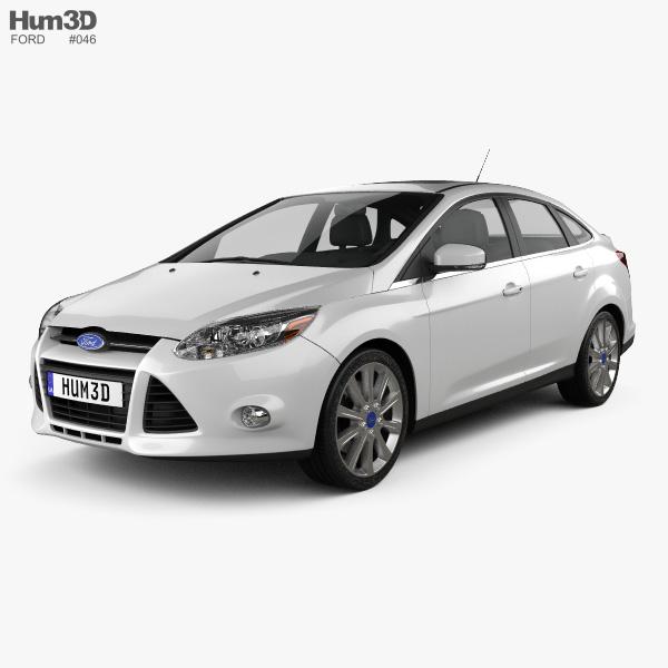 Ford Focus sedan Titanium 2012 3D model