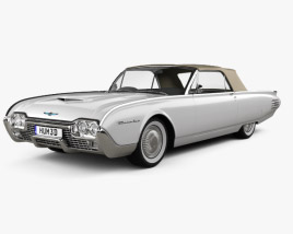 3D model of Ford Thunderbird 1961
