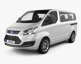3D model of Ford Tourneo Custom SWB 2012