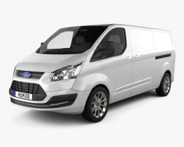 3D model of Ford Transit Custom LWB 2012