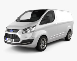 3D model of Ford Transit Custom SWB 2012