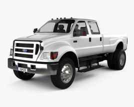 3D model of Ford F-650 / F-750 pickup 2012