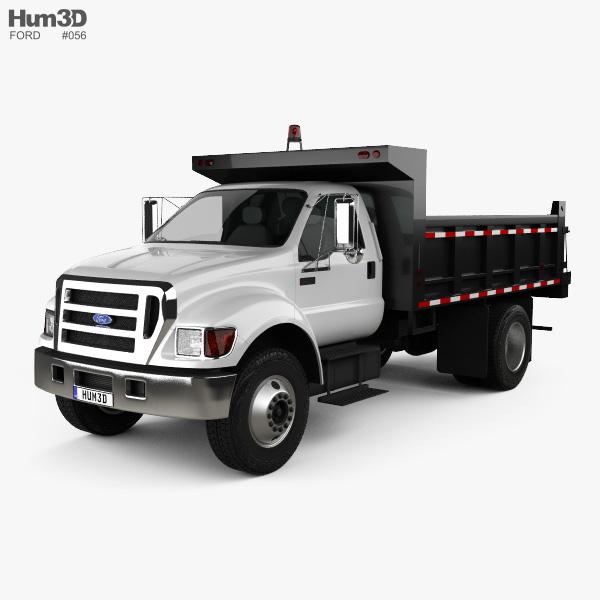 Ford F-650 / F-750 Dump Truck 2012 3D model