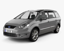 3D model of Ford Galaxy (Mk3) 2012