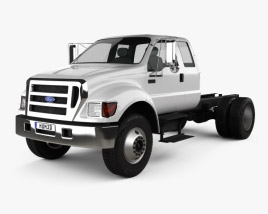 3D model of Ford F-650 / F-750 Super Cab Chassis 2012