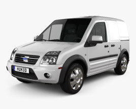 3D model of Ford Transit Connect SWB 2012