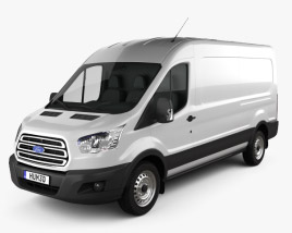 3D model of Ford Transit Panel Van LWB 2012